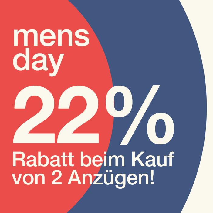 22% Rabatt auf 2 Anzüge!