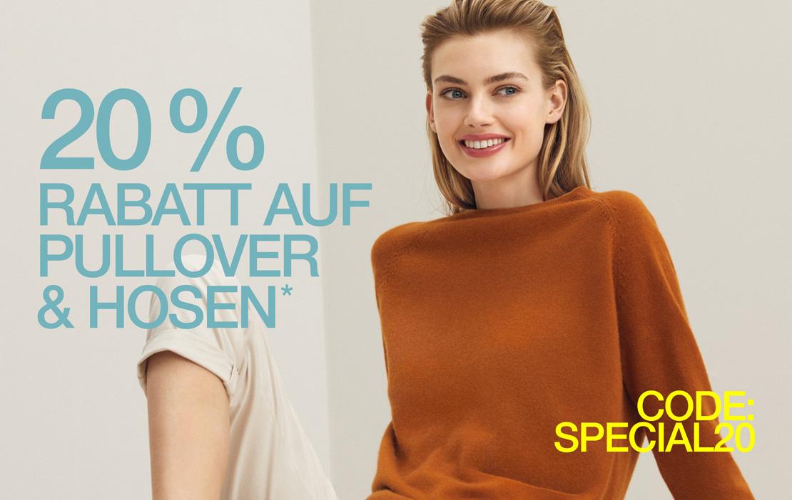 20% Rabatt auf Pullover & Hosen