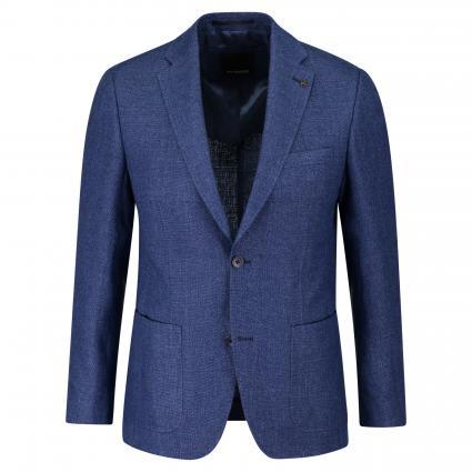 Regular-Fit Sakko mit Strukturmuster  blau (A430 BRIGHT BLUE) | 27