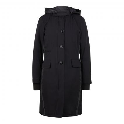 Longjacket mit Kontrastdetails schwarz (9999 Black)   XL