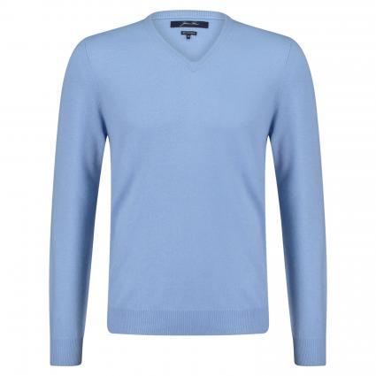 Strickpullover aus Cashmere blau (C390 light blue)   S