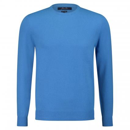 Rundhalspullover aus Cashmere blau (C387 royale) | S