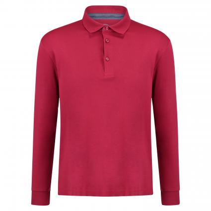 Langarmshirt mit Polokragen rot (19212 Red) | L
