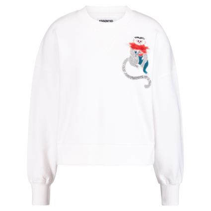 Sweatshirt 'Shrek' mit Applikation weiss (OW01 OFF WHITE) | 38