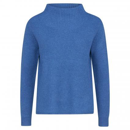 Pullover aus Merinowolle blau (lochside) | S