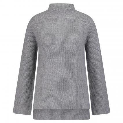 Strickpullover aus Cashmere mit Stehkragen grau (grey mel.) | M