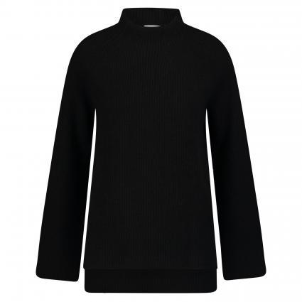 Strickpullover aus Cashmere mit Stehkragen schwarz (black) | XL