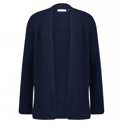 Offene Strickjacke aus Wolle marine (marine) | L