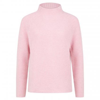 Strickpullover aus reiner Wolle mit Stehkragen rose (puder )   XXL