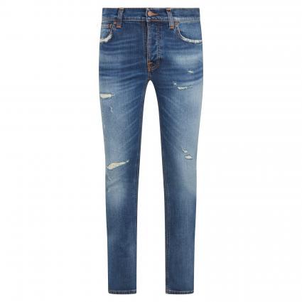 Regular-Fit Jeans 'Grim Tim' in Destroyed-Optik blau (broken promises) | 32 | 32