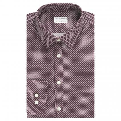 Slim-Fit Hemd 'Ferene' mit Musterung bordeaux (5J9) | 40