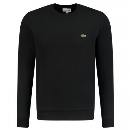 Sweatshirt mit Label-Stickerei schwarz (031 black) | S
