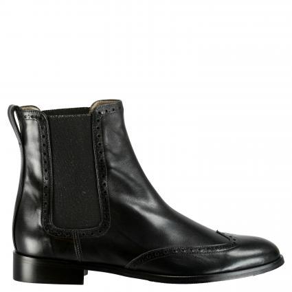 Stiefeletten aus Leder schwarz (COSMOS BLACK) | 39