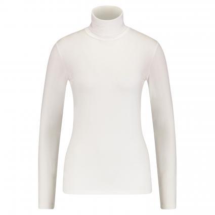 Langarmshirt mit Rollkragen ecru (001 offwhite) | S