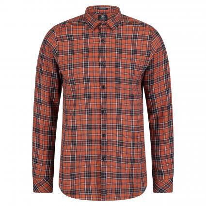 Hemd 'Flannel' mit Musterung orange (439 Orange) | M