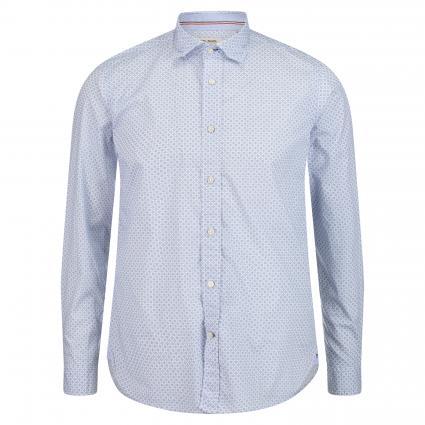 Slim-Fit Hemd mit All-Over Print blau (67 Blue)   45