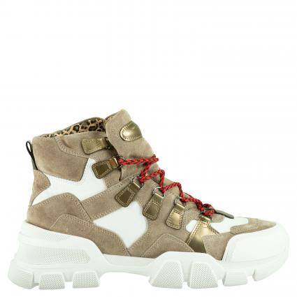 Sneaker aus Leder taupe (662 OMBRA/BIA/GO.SW) | 4,5
