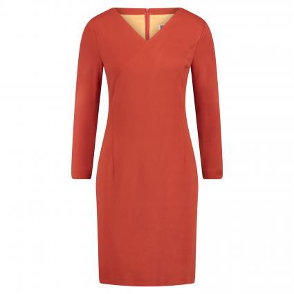 Kleid 'Erika' mit V-Ausschnitt rot (4020) | 34