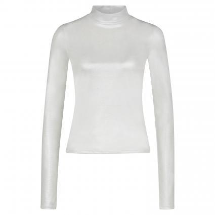 Langarmshirt mit Stehkragen silber (S569 MOON SILVER) | M