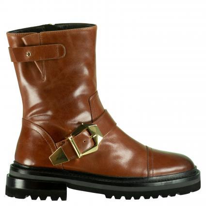 Boots aus Leder cognac (COGNAC) | 38