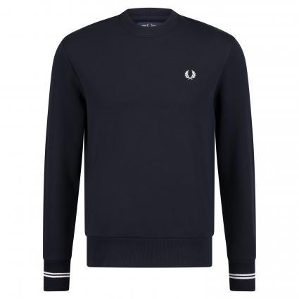 Sweatshirt mit Label-Stickerei marine (248 navy) | M