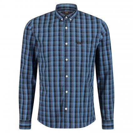 Slim-Fit Hemd mit Karomuster  blau (OFMJ frost blue) | XXL