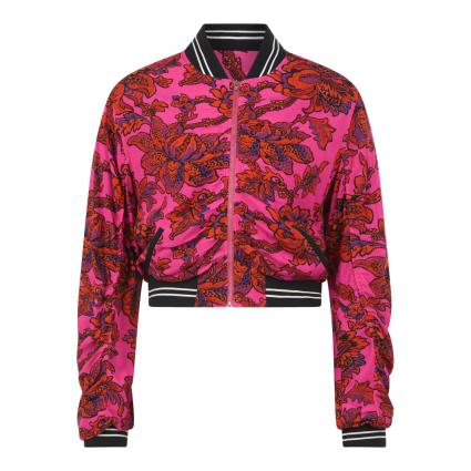 Blousonjacke mit blumigem Druck pink (5214 FUCSIA) | 36