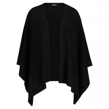 Poncho aus reinem Cashmere  schwarz (200 schwarz) | 0
