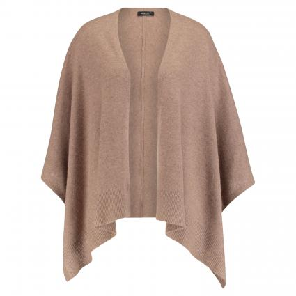 Poncho aus reinem Cashmere  taupe (708 toffee) | 0