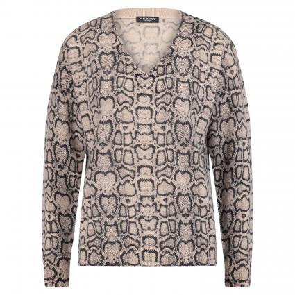 Pullover mit Reptilien-Print beige (9939 sand/black) | 44