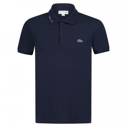 Poloshirt mit Label-Stickerei  blau (166 marine) | S