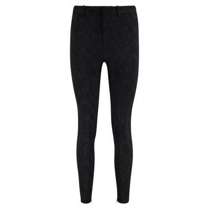 Pantalon étroit 'Winch&#039 ; avec Animal-Print noir (1000) | 26 | 32