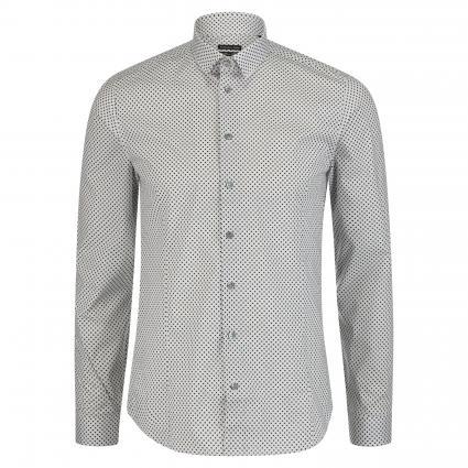 Slim-Fit Hemd mit All-Over Muster grau (J2GG grid gray/black)   46