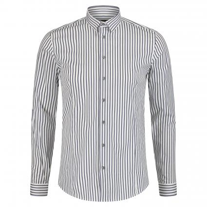 Slim-Fit Hemd mit All-Over Muster blau (J2HC stripe dark blue) | 52