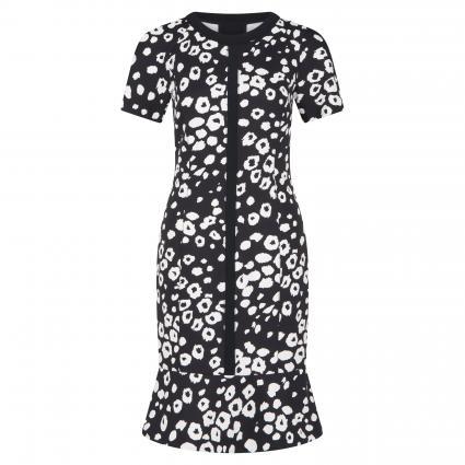Figurbetontes Kleid mit All-Over Muster  schwarz (910 schwarz/weiß) | 46