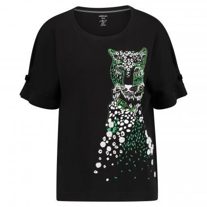 T-Shirt mit Leoparden-Motiv schwarz (910 schwarz)   38