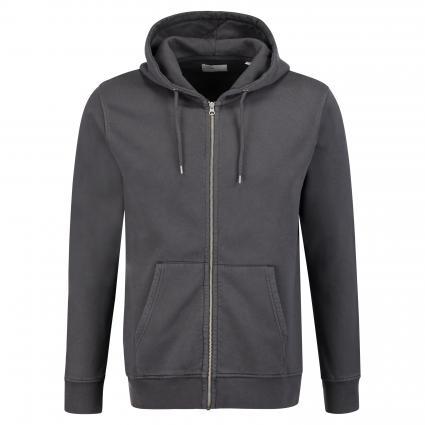 Sweatshirtjacke mit Kapuze grau (lava grey) | M