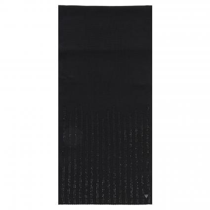 Schal mit Strass-Besatz schwarz (JBLK JET BLACK A996) | 0
