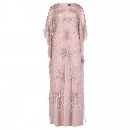 Robe de soirée avec passementerie pailletée rose (AA685 rose) | 36