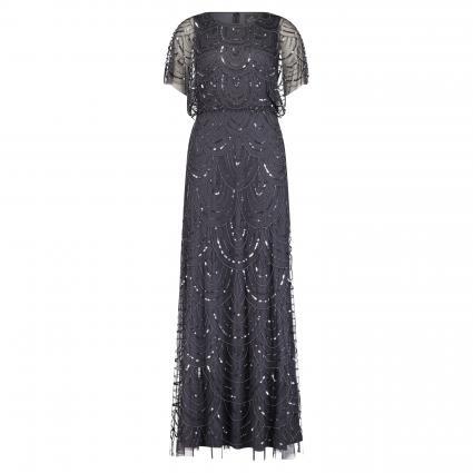 Abendkleid mit Paillettenbesatz grau (AA015 grau) | 36