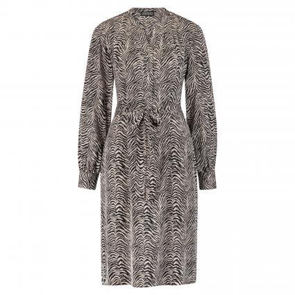 Kleid mit All-Over Print beige (9961 sand) | 36