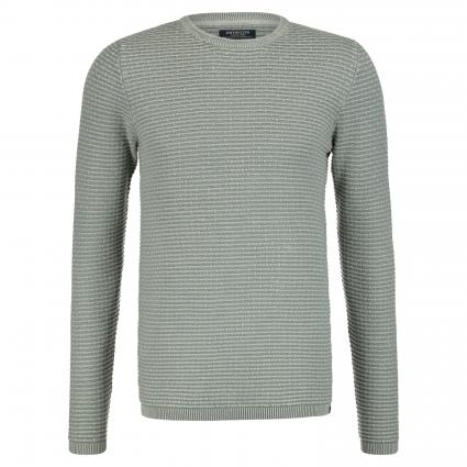Pullover mit Strukturmuster grau (689 Oil Blue)   XL