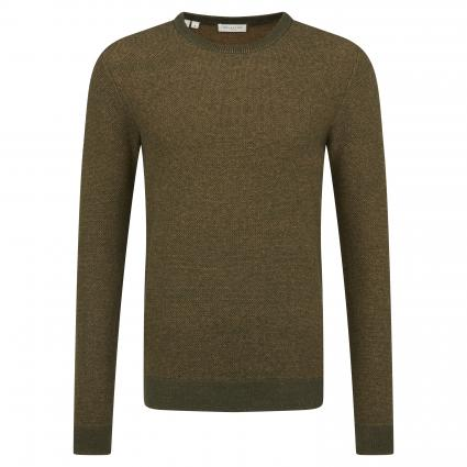 Pullover 'Jeff' mit Strukturmuster bordeaux (Rosin)   XL
