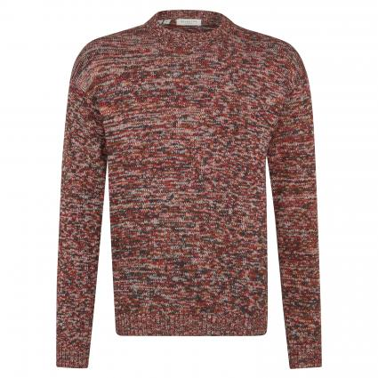 Strickpullover 'New James'  mit All-Over Muster rot (Red Dahlia) | L