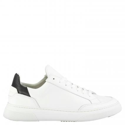 Sneaker aus Leder weiss (100 white/black) | 43