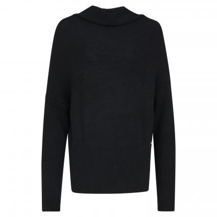 Pullover mit Strukturmuster schwarz (K103 NERO) | XS