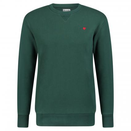 Sweatshirt mit Flock-Print grün (6800)   S