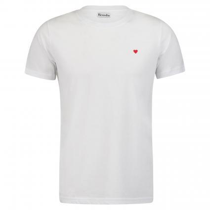 T-Shirt mit Flock-Print weiss (1000) | XL