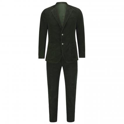 Slim-Fit Anzug aus Cord grün (301 301 Dark Green)   48