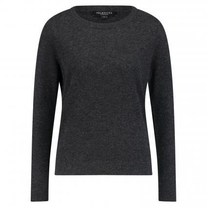 Pullover 'Aya' aus Cashmere grau (DARK GREY MELANGE) | XS